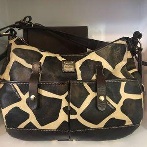 DOONEY & BOURKE Med GIRAFFE PRINT Leather Hobo